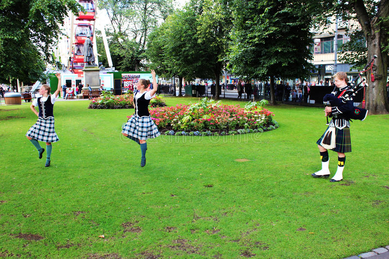 Edinburg festival 2014 royaltyfri bild