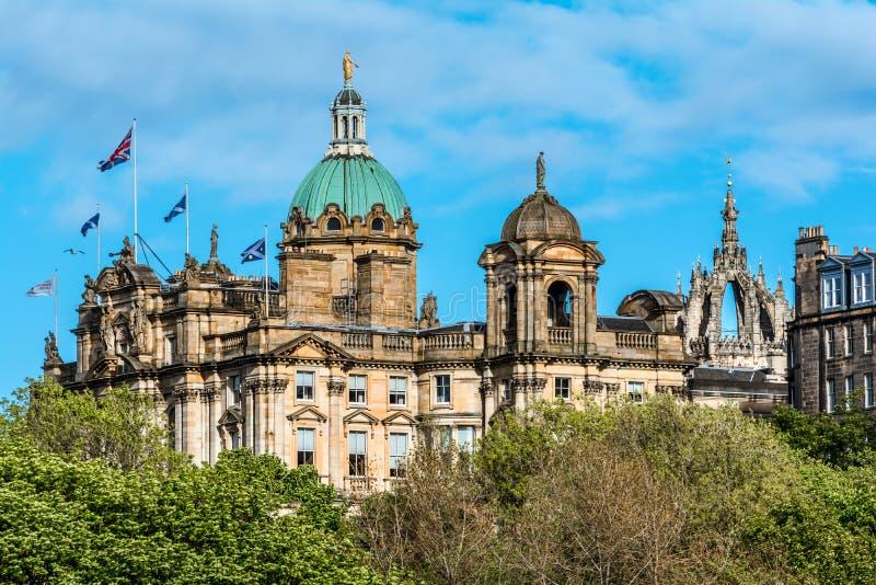Edinburg-gränsmärke Skottland, UK royaltyfria bilder
