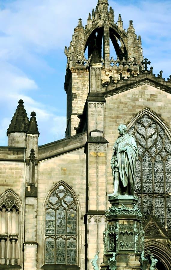 Edinburg Kathedrale stockbilder