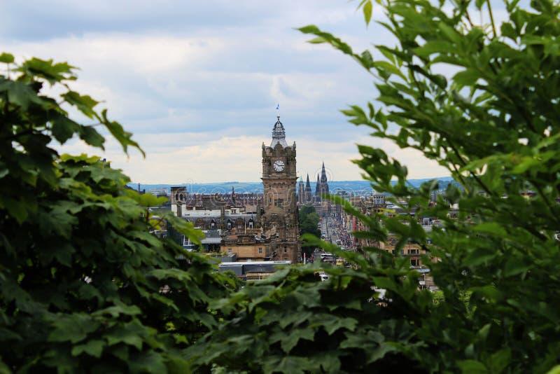 Edinburg klockatorn arkivbilder