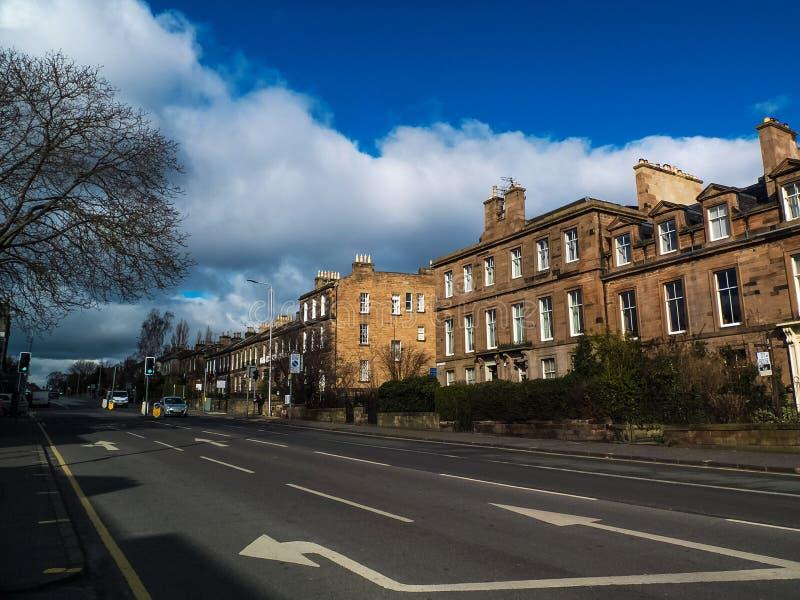 EDINBURG Skottland-Februari 26, 2016-View av historisk byggnadstället i den gamla staden av Edinburg, Skottland, UK arkivfoton