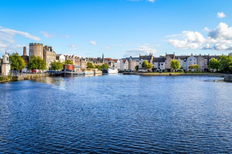 Edinburg Skottland - kusten arkivfoto