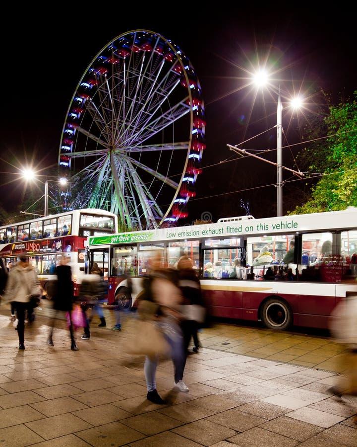 Edinburgh-Auge auf Prinzessinstraße lizenzfreie stockfotografie