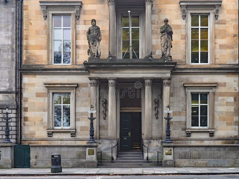 EDINBURGH - budynek Królewskiego Kolegium Lekarzy zdjęcie stock