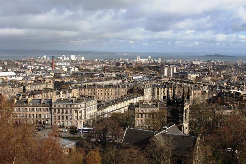 Edinburgh from Calton Hill looking towards Leith royalty free stock photography