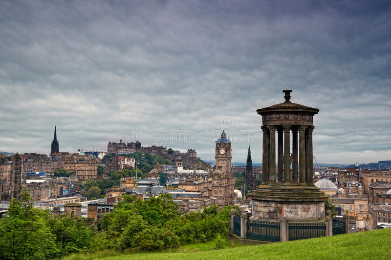 Download Edinburgh From Calton Hill, Scotland Stock Photo - Image of exterior, clocktower: 26078294