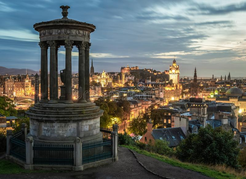 Edinburgh Carlton Hill Sunset stock foto