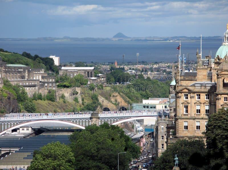 In Edinburgh castle. Medieval buildings in Edinburgh castle. Scotland royalty free stock image