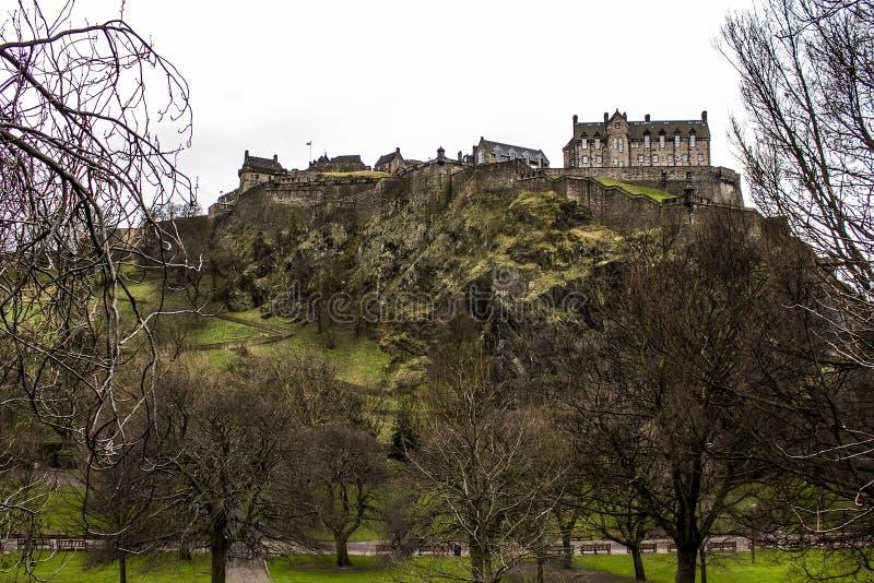 Download Edinburgh Castle stock image. Image of decorated, dusk - 28541635