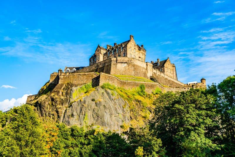 Edinburgh Castle. Edinburgh, Scotland, UK: The Edinburgh Castle dominates the skyline of the city of Edinburgh from its position on top of the Castle Rock stock photos