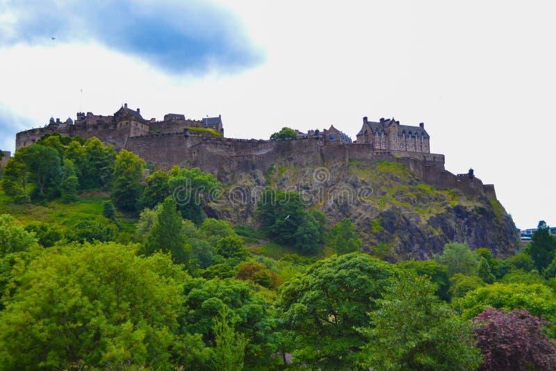 Edinburgh Castle And Princes Street Gardens In Edinburgh, Scotla ...