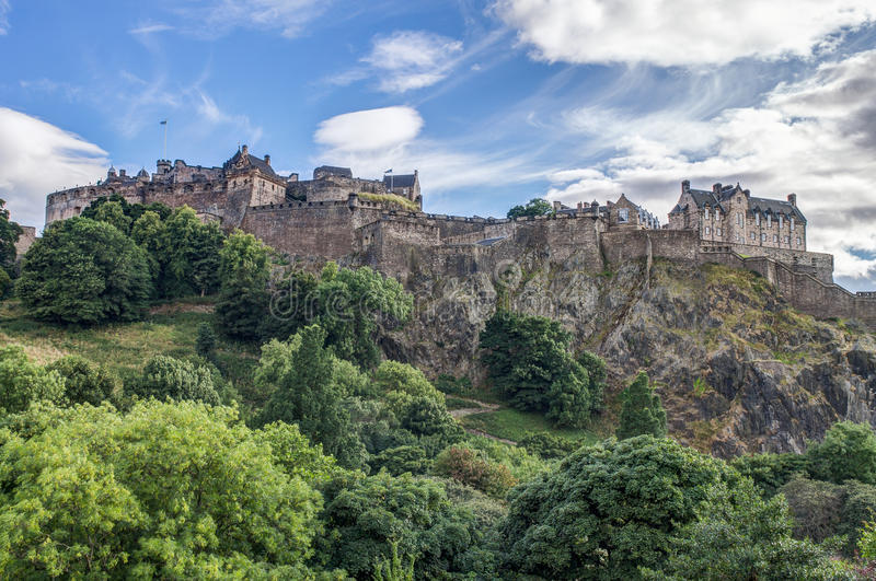Edinburgh Castle. In Scotland, UK stock photography