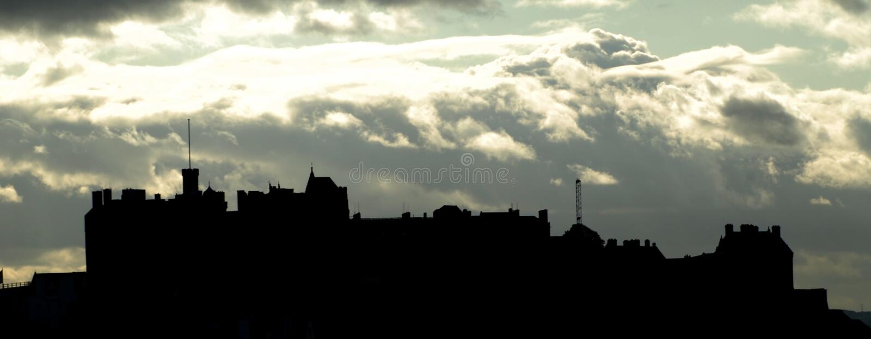 Edinburgh Castle silhouette royalty free stock images