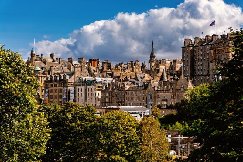 Edinburgh Castle View, Scotland UK. Traveling in Europe stock photography