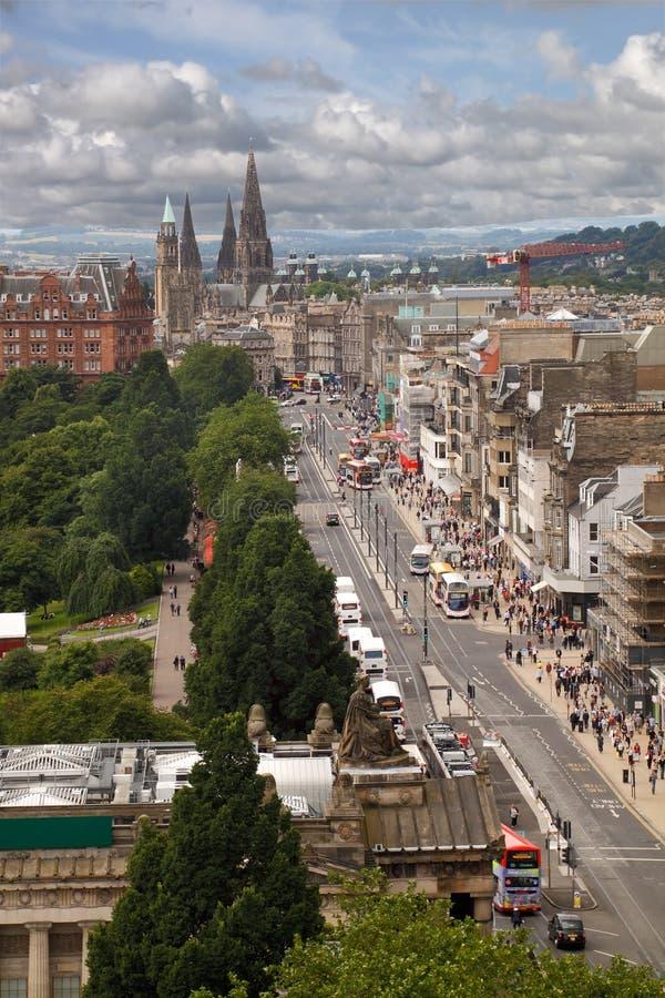Edinburgh City Centre Royalty Free Stock Photo