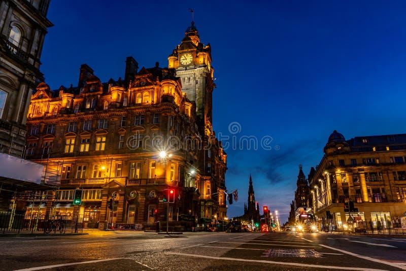 Edinburgh city and Night, Long Exposure shots. Scotland Uk, Traveling in Europe royalty free stock images