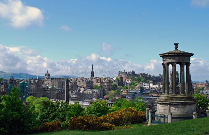 Edinburgh city. This is a view of the capital city of Scotland from carlton hill . Edinburgh is a historic city with Edinburgh castle in the centre of the city stock photography