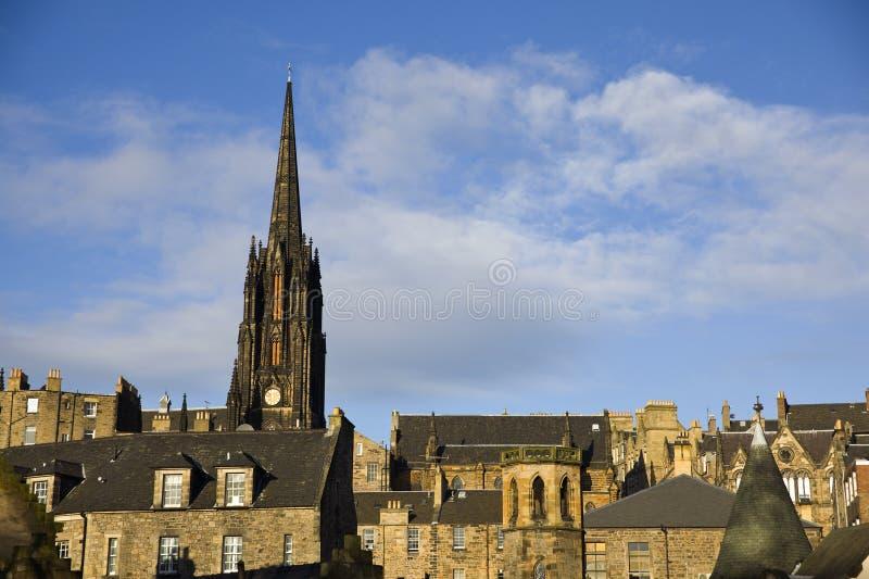 Download Edinburgh Cityscape stock image. Image of city, blue - 20143667