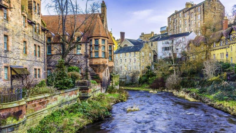 Edinburgh in de Winter stock afbeeldingen