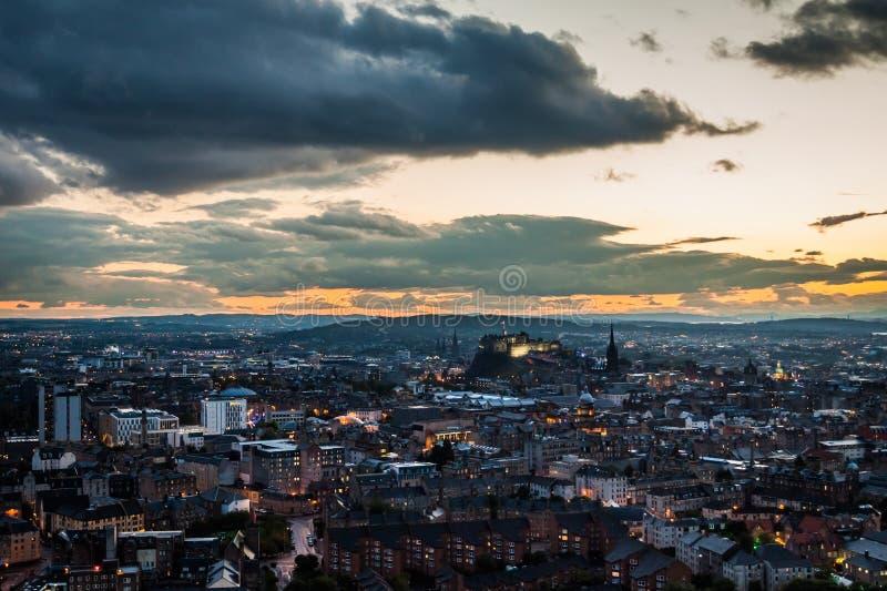 Edinburgh at dusk stock photos