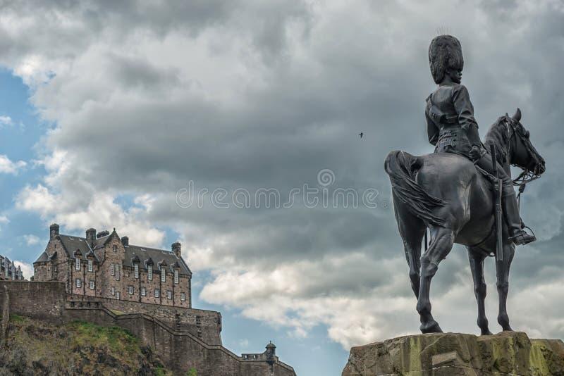 Edinburgh, edinburgh castle, scottish history. Tourism attractions in edinburgh city stock image