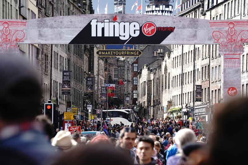 Edinburgh Festival Fringe 2019. A street view royalty free stock images