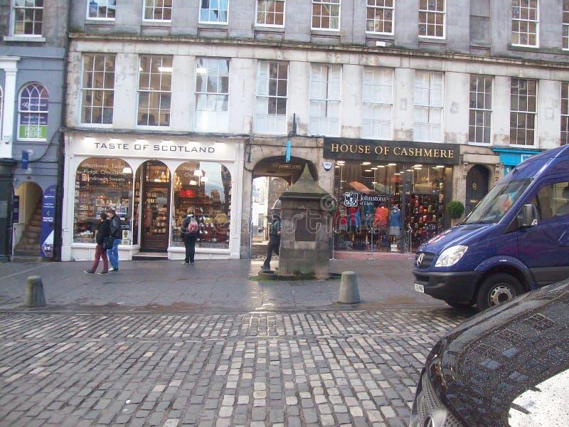 Edinburgh-Geschichtsausflug der Stadt sehen historische Gebäude stockfotos