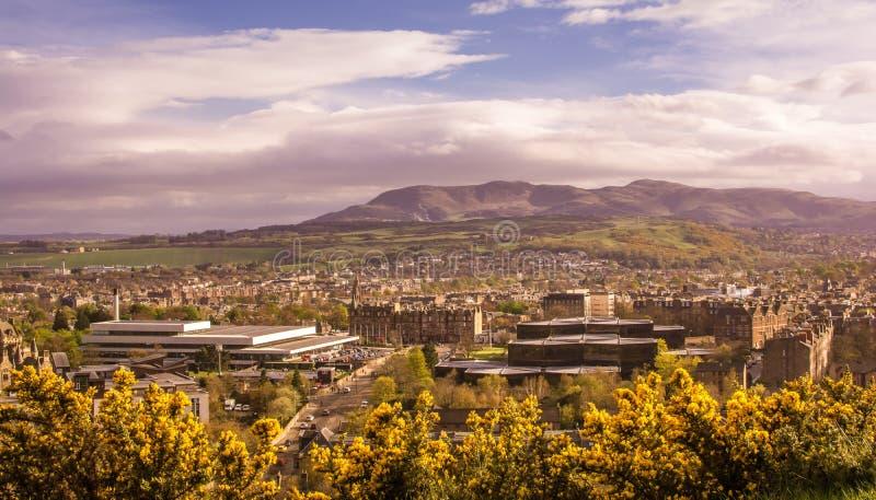 Edinburgh in hoge mening royalty-vrije stock foto