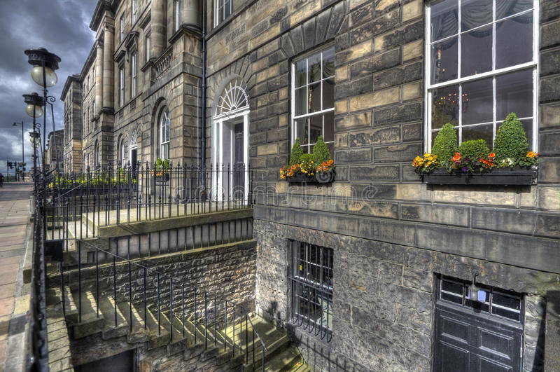 Edinburgh Houses. Stately residential houses in Edinburgh New Town in Scotland, UK royalty free stock image