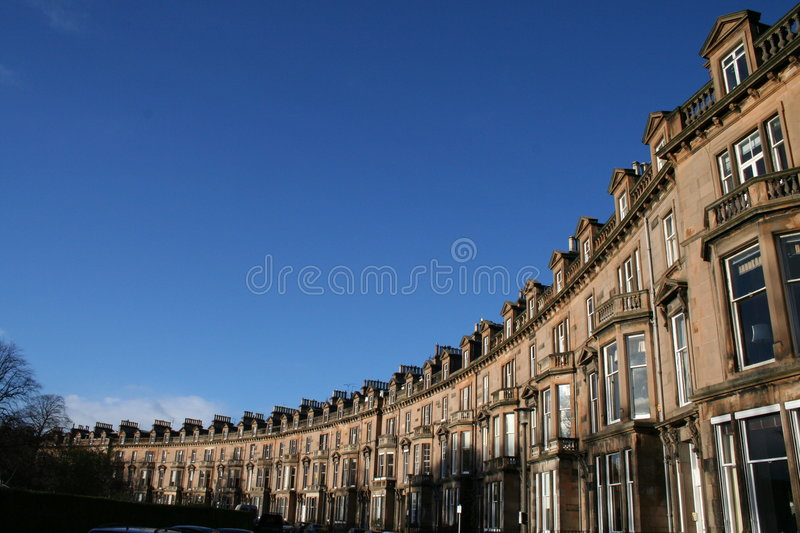 edinburgh houses rad royaltyfri fotografi