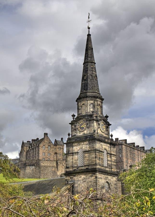 Edinburgh-Kirchturm lizenzfreies stockfoto