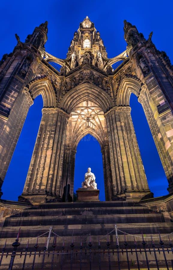 edinburgh kungarikemonument scotland förenade scott royaltyfri foto