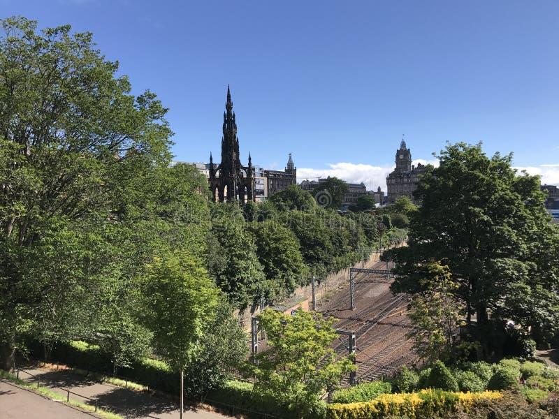 edinburgh kungarikemonument scotland förenade scott arkivfoto