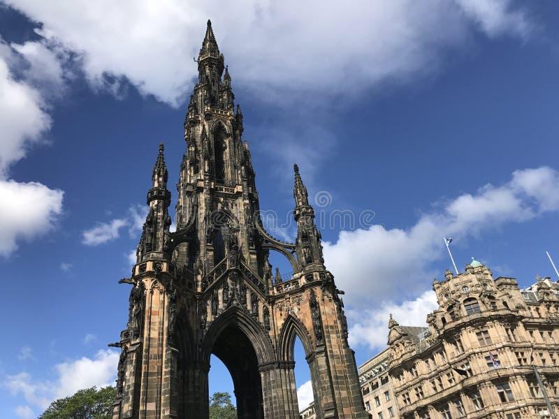 edinburgh kungarikemonument scotland förenade scott fotografering för bildbyråer