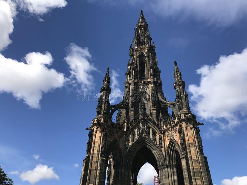edinburgh kungarikemonument scotland förenade scott royaltyfri fotografi
