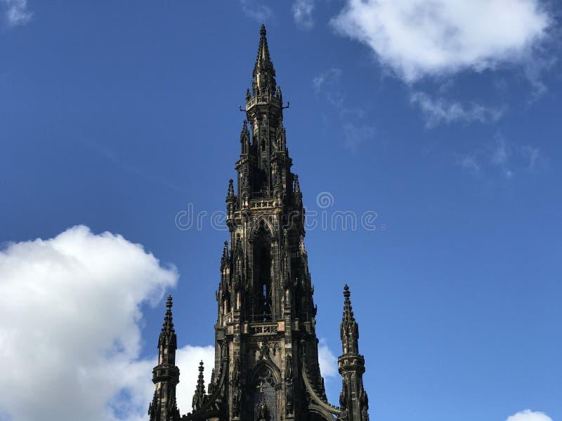 edinburgh kungarikemonument scotland förenade scott arkivbild