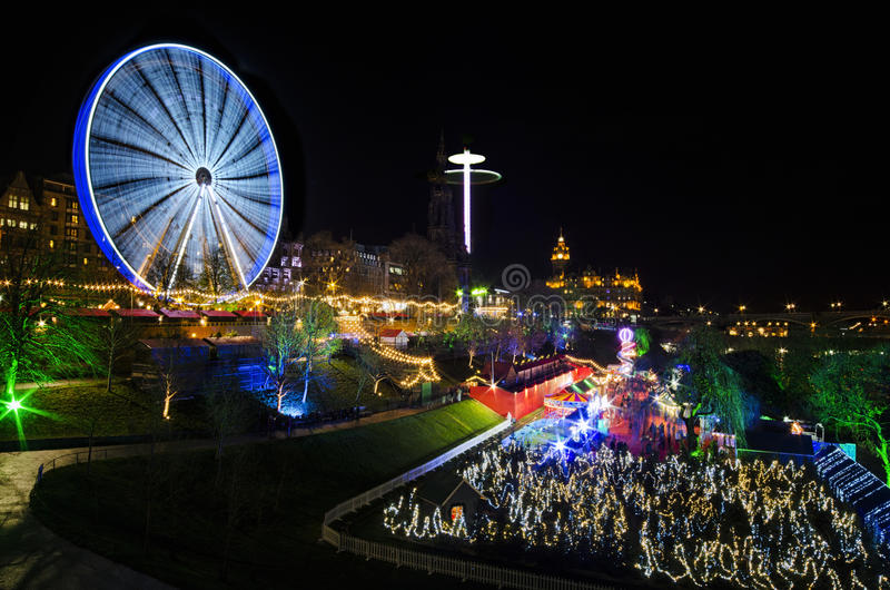 Edinburgh& x27; mercado do Natal de s imagem de stock royalty free