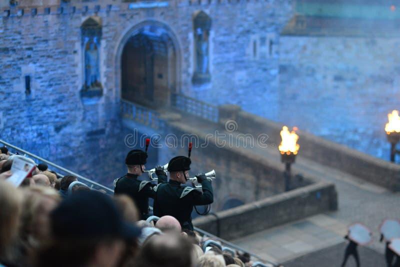 Edinburgh-Militärtätowierung 2013 lizenzfreies stockfoto