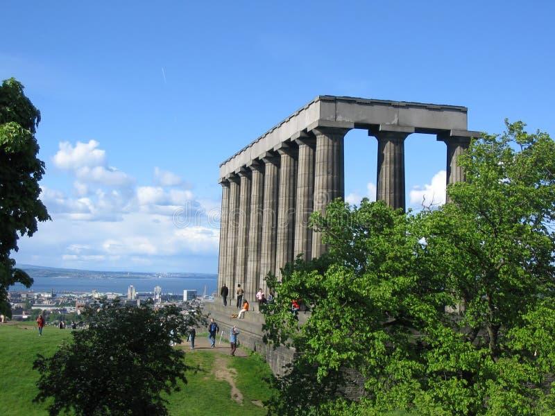 edinburgh monumentnational royaltyfri bild