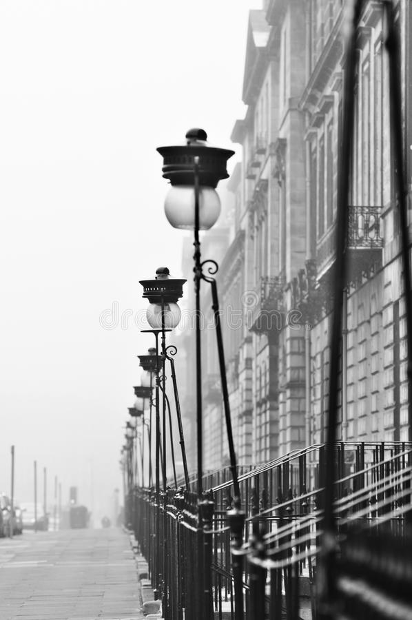 Edinburgh nella nebbia fotografie stock
