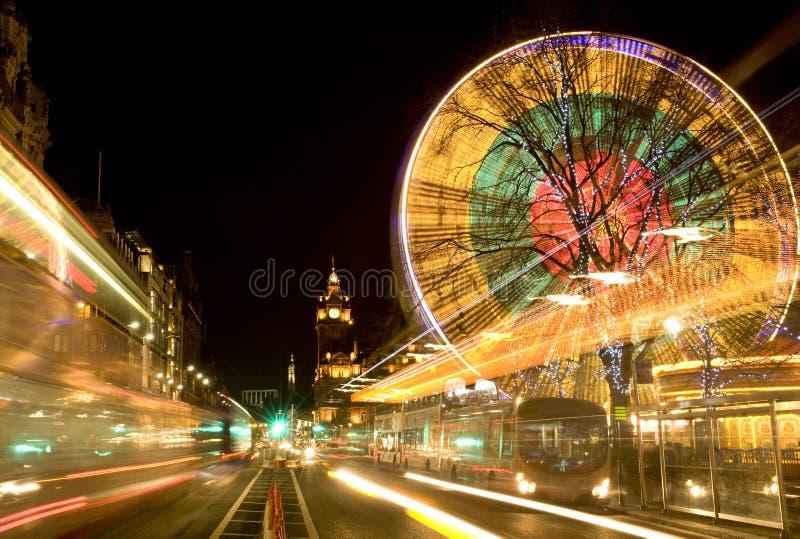 Edinburgh at night stock photography