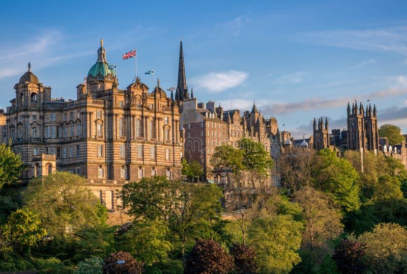 Edinburgh panorama royalty free stock photography