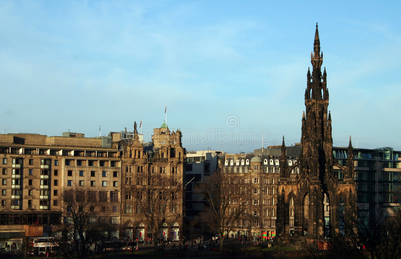 Edinburgh-Prinzstraße. stockfoto