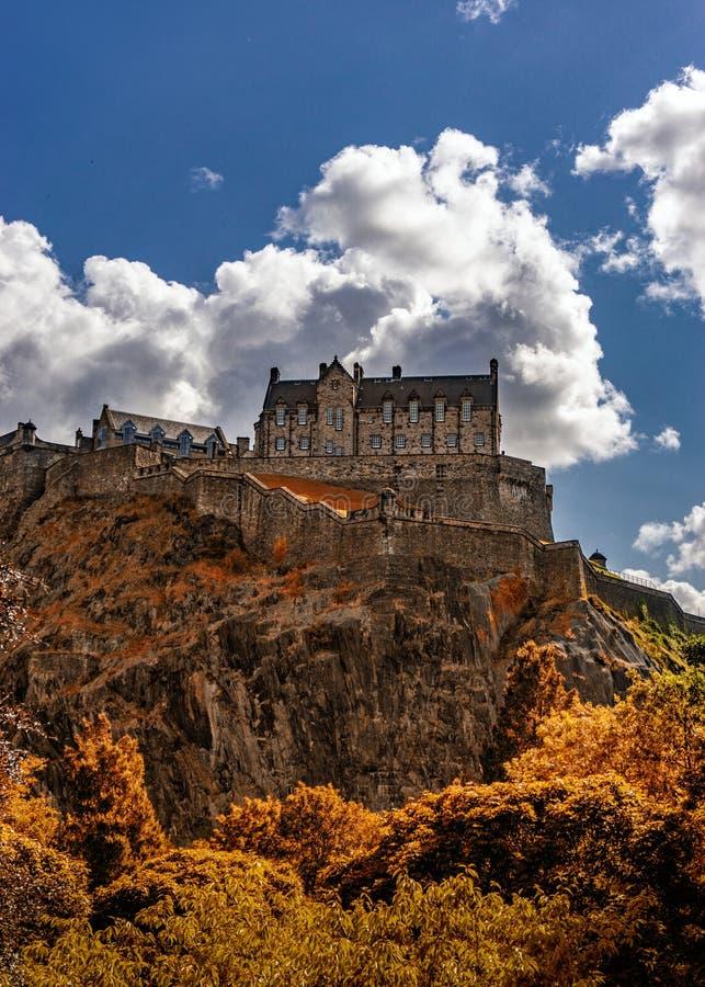 Edinburgh-Schloss-Ansicht, Schottland Großbritannien stockbild