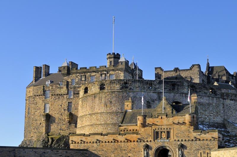 Edinburgh-Schloss-Eingangs-Gatter lizenzfreies stockbild