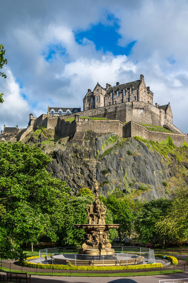 Edinburgh-Schloss, Schottland stockfotografie