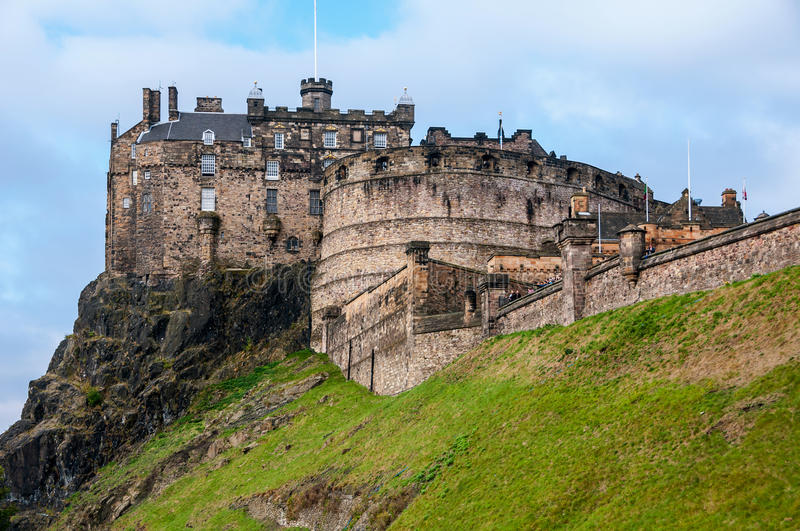 Edinburgh-Schloss, Schottland stockfotos