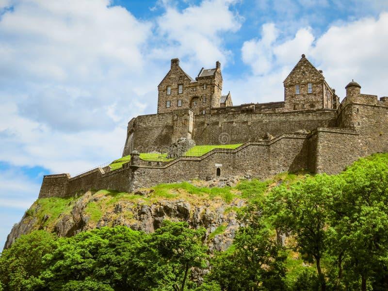 Edinburgh-Schloss, Schottland, Großbritannien lizenzfreies stockbild