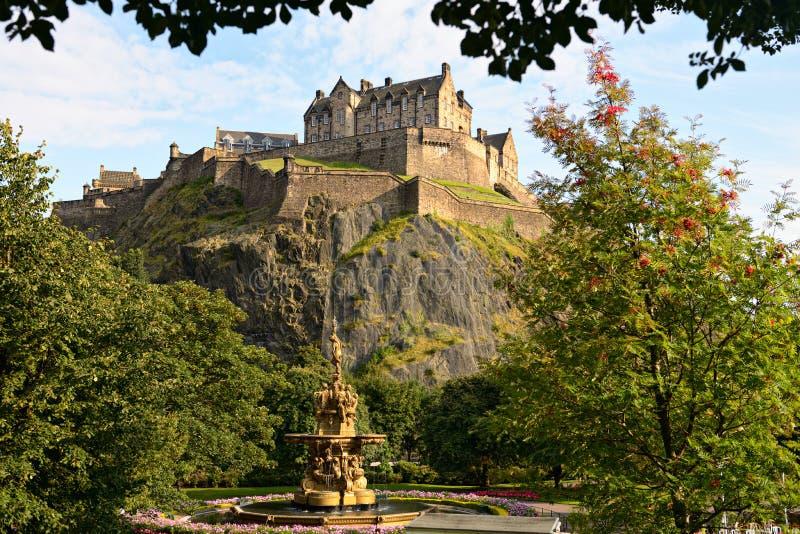 Edinburgh-Schloss, Schottland, Ross-Brunnen lizenzfreie stockfotos