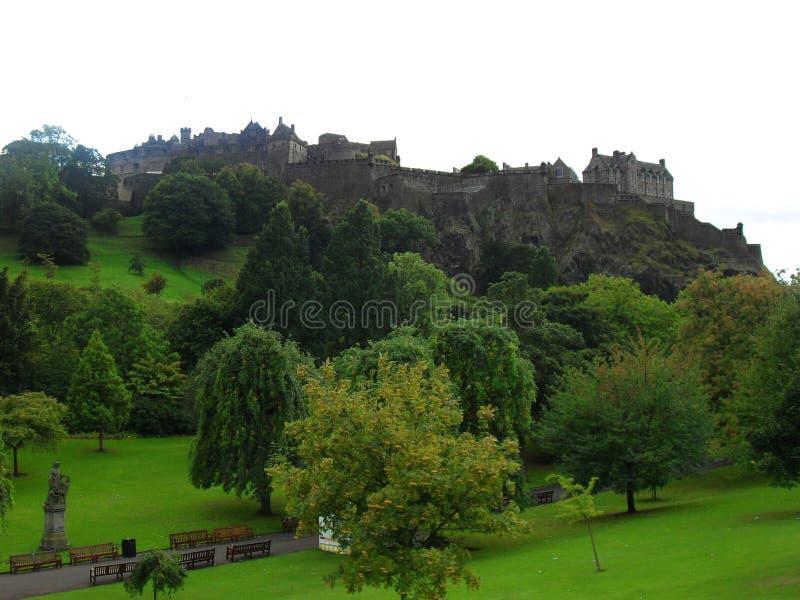 Edinburgh-Schloss von Prinzen Street stockfoto